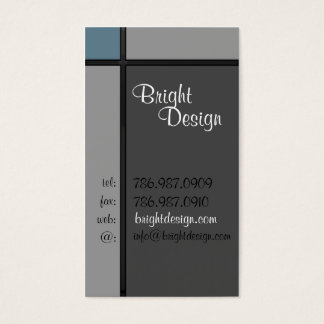 Geometric Greys Business Card