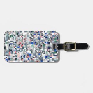 Geometric Grid of Colors Luggage Tag