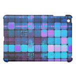 geometric grid purple and blue for iPad iPad Mini Case