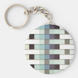 Geometric Grunge Graphic Keychain