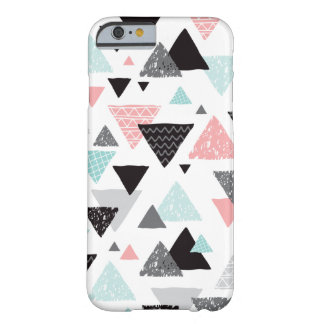 Geometric grunge hand drawn triangle pastel print barely there iPhone 6 case