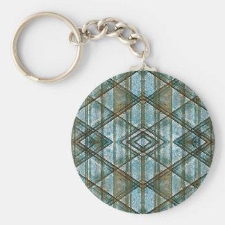 Geometric Grunge Pattern Key Chains
