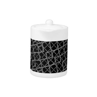 Geometric Grunge Pattern Teapot