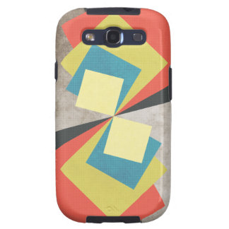 Geometric Grunge Squares Samsung Galaxy S3 Case