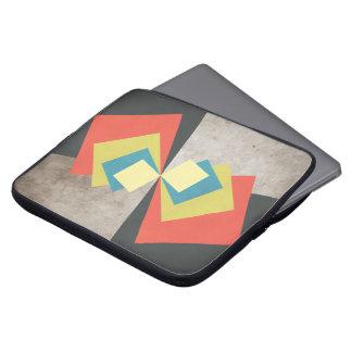 Geometric Grunge Squares Computer Sleeves