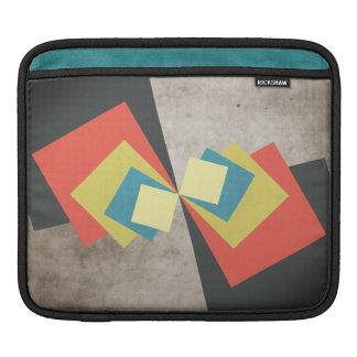 Geometric Grunge Squares iPad Sleeve