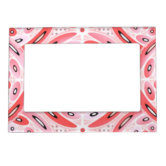 Geometric harmony magnetic picture frame