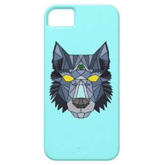 Geometric Hipster Wolf Iphone case