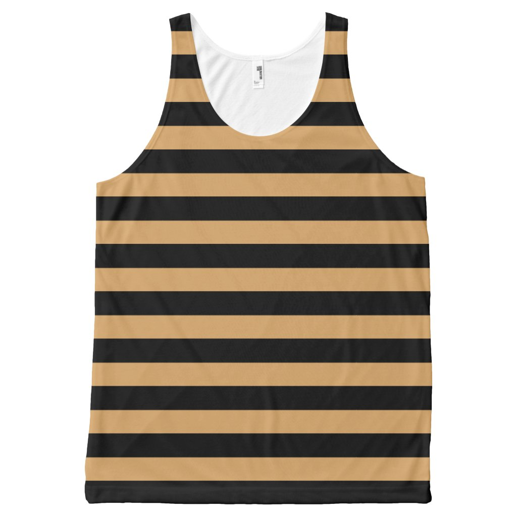 Geometric Horizontal Black Stripes on any Color