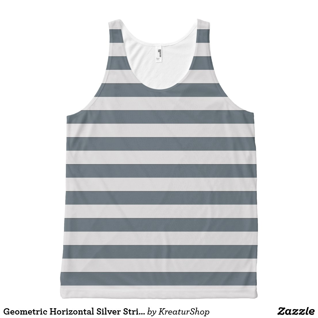 Geometric Horizontal Silver Stripes on any Color