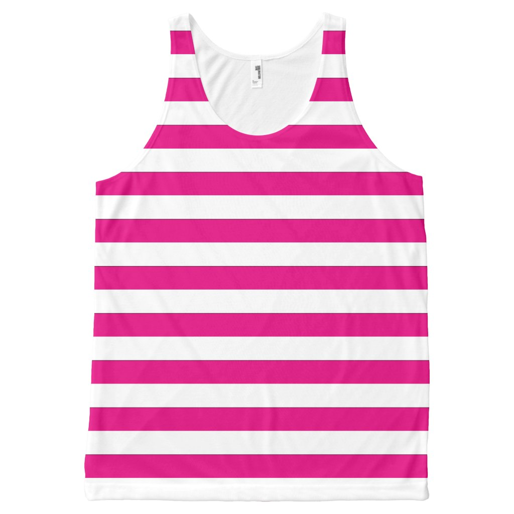Geometric Horizontal White Stripes on any Color
