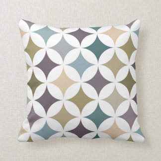 Geometric Hypocycloid Pattern Fall Colors Throw Pillow