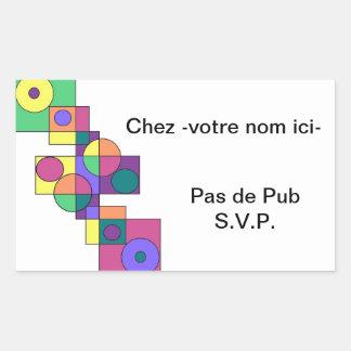 Geometric I Rectangular Sticker