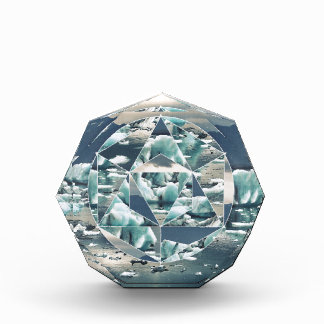 Geometric Icebergs Abstract Acrylic Award