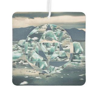 Geometric Icebergs Abstract Air Freshener