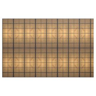 Geometric Illuminated Squares Abstract Fabric