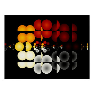 Geometric Illusion Fractal Art Poster