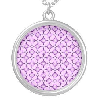 Geometric in Blue and Purple Necklace
