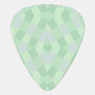 Geometric In Soft Green Shades Guitar Pick