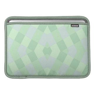 Geometric In Soft Green Shades Sleeve For MacBook Air