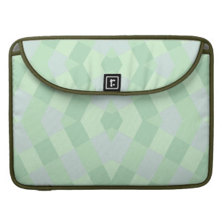 Geometric In Soft Green Shades MacBook Pro Sleeves