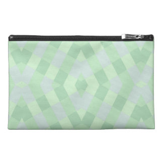Geometric In Soft Green Shades Travel Accessories Bags