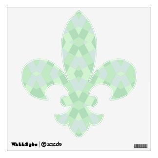 Geometric In Soft Green Shades Wall Decor