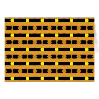 Geometric in Yellow and Black Card