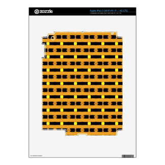Geometric in Yellow and Black Decal For iPad 3