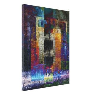 Geometric Industrial Grunge Art 9 Canvas Print