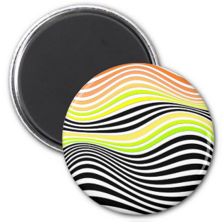 Geometric Interaction 2 Inch Round Magnet
