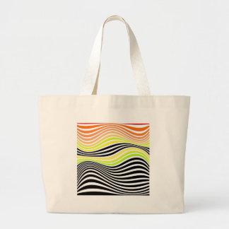 Geometric Interaction Large Tote Bag