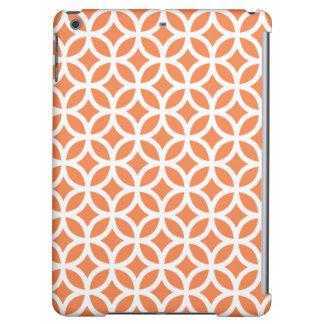 Geometric iPad Air Case in Celosia Orange