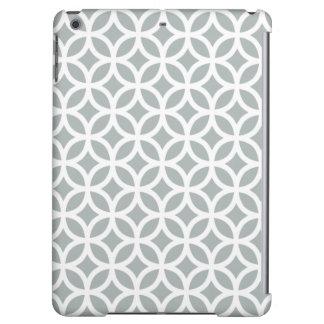 Geometric iPad Air Case in Paloma Gray