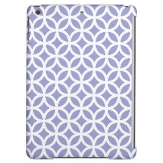 Geometric iPad Air Case in Violet Tulip