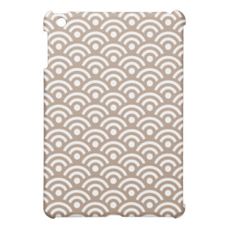 Geometric Ipad Mini Case in Light Brown