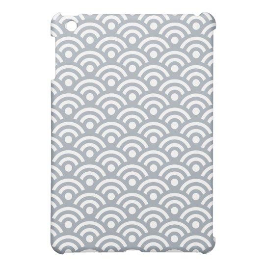 Geometric Ipad Mini Case in Silver Gray
