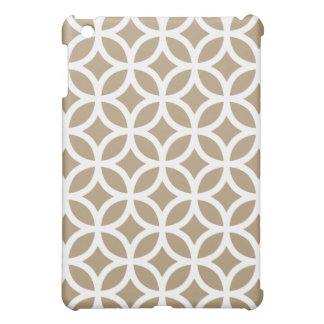 Geometric Ipad Mini Case - Light Brown
