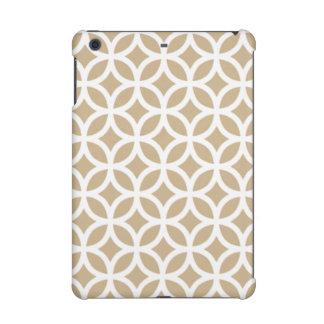 Geometric iPad Retina Case in Sand Brown iPad Mini Cover