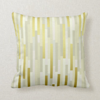 Geometric IT Lines Stripes Mustard White Gray Gold Throw Pillow