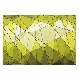 Geometric Jewel Gemstone Design Placemat