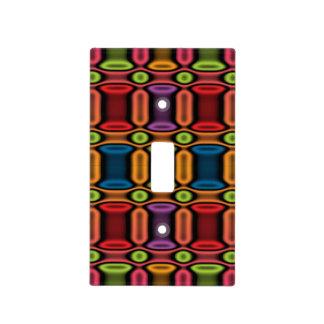 Geometric Jewel Tones Light Switch Covers