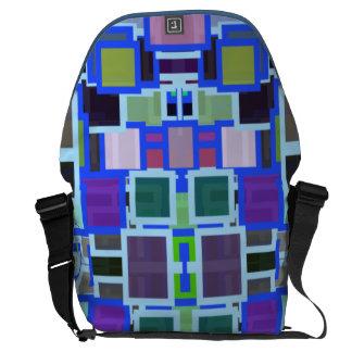 Geometric Jumble Courier Bag