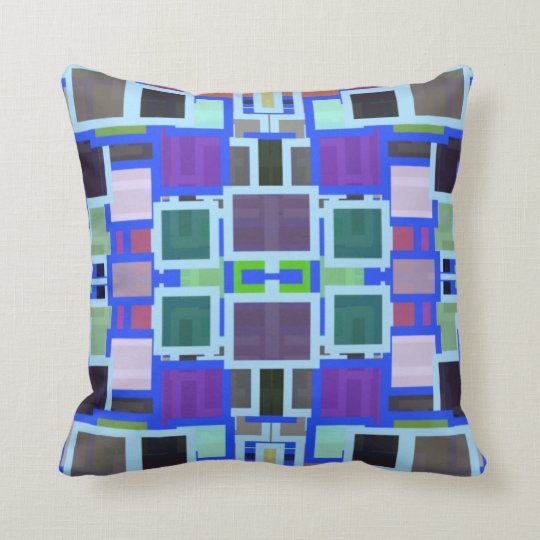 Geometric Jumble Throw Pillow