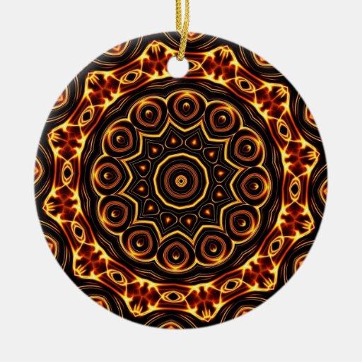 Geometric Kaleidoscope 03 Ceramic Ornament