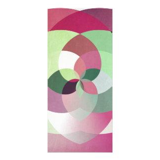 Geometric Kaleidoscope Design in Multiple Colors Rack Card