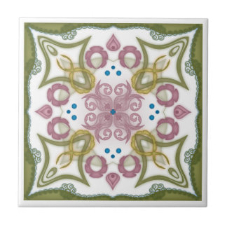 Geometric Kaleidoscope Mirror Design - Trivet 5 Small Square Tile