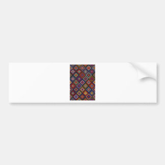 Geometric knitted quilt pattern bumper sticker