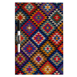 Geometric knitted quilt pattern Dry-Erase board