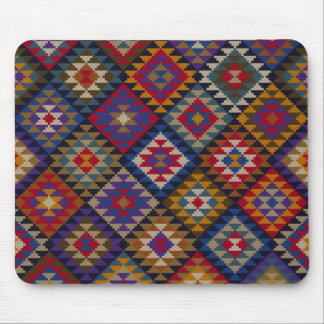 Geometric knitted quilt pattern mouse pad
